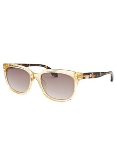 Calvin Klein Women's Rectangle Translucent Honey Sunglasses