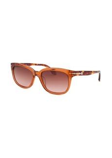 Calvin Klein Women's Rectangle Translucent Orange Sunglasses