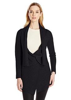 Calvin Klein Women's Ribbed Sweater Jacket