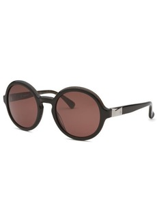 Calvin Klein Women's Round Black & Marble Sunglasses