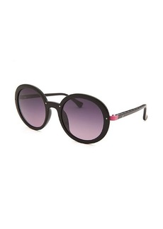 Calvin Klein Women's Round Black and Pink Sunglasses