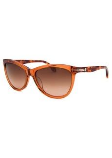 Calvin Klein Women's Round Blue Sunglasses