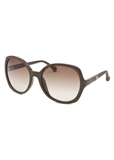 Calvin Klein Women's Round Dark Brown Sunglasses