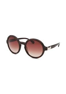 Calvin Klein Women's Round Dark Havana Sunglasses