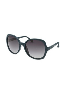 Calvin Klein Women's Round Dark Teal Sunglasses