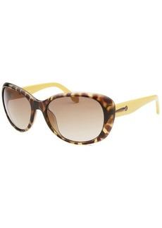 Calvin Klein Women's Round Havana Translucent Sunglasses