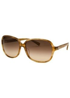 Calvin Klein Women's Round Horn Brown Sunglasses