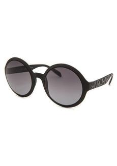 Calvin Klein Women's Round Matte Black Sunglasses