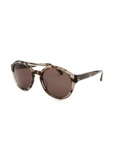Calvin Klein Women's Round Translucent Tortoise Sunglasses