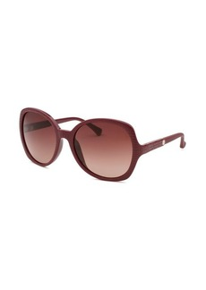 Calvin Klein Women's Round Wine Sunglasses
