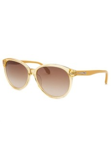 Calvin Klein Women's Round Yellow Translucent Sunglasses