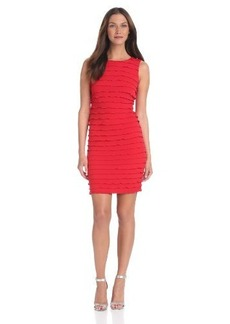Calvin Klein Women's Ruffle Sheath Dress