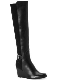 Calvin Klein Women's Sama Wide Calf Tall Wedge Boots