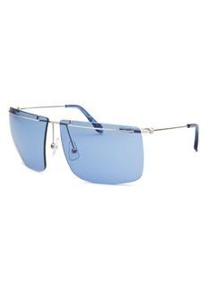 Calvin Klein Women's Semi-Rimless Silver-Tone Sunglasses