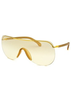Calvin Klein Women's Shield Yellow Sunglasses