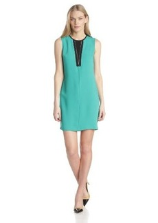 Calvin Klein Women's Shift Dress with Zipper Detail