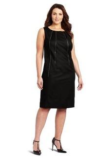 Calvin Klein Women's Shift Dress With Zipper Detail