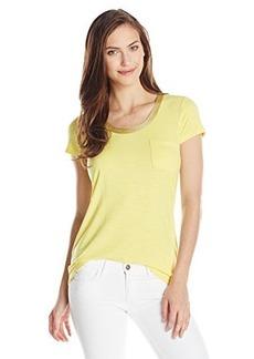 Calvin Klein Women's Knit T-Shirt with Gold Trim , Koi, Small