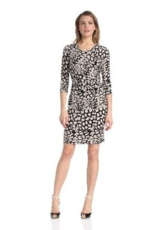 Calvin Klein Women's Side-Ruched Print Dress