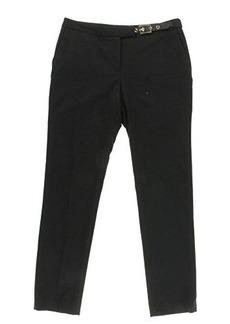 Calvin Klein Women's Skinny Pant with Side Belt, Black, 8