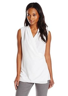 Calvin Klein Women's S/L Tunic with Toggle, Soft White, X-Large