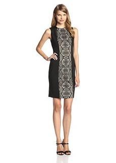 Calvin Klein Women's Sleeveless Animal Print Color Block Dress