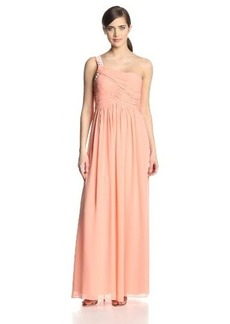 Calvin Klein Women's Sleeveless Chiffon Party Dress