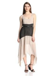 Calvin Klein Women's Sleeveless Color-Block Maxi Dress