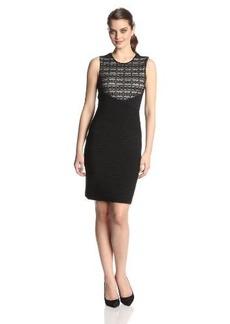 Calvin Klein Women's Sleeveless Criss Cross Body Con Dress