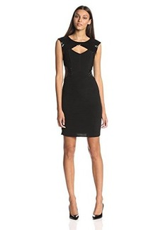 Calvin Klein Women's Sleeveless Cutout Sparkle-Embellished Dress