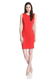 Calvin Klein Women's Sleeveless Front Paneled and Stud Dress