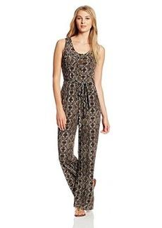 Calvin Klein Women's Sleeveless Front Tie Printed Jumpsuit