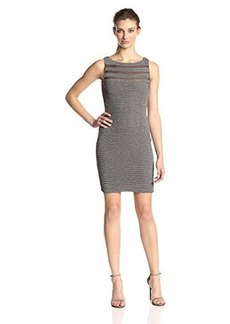 Calvin Klein Women's Sleeveless Illusion Stripe Dress