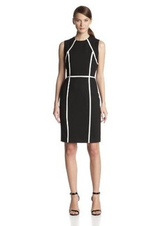 Calvin Klein Women's Sleeveless Paneled Sheath Dress