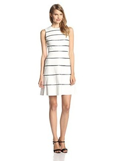 Calvin Klein Women's Sleeveless Striped Flare Dress