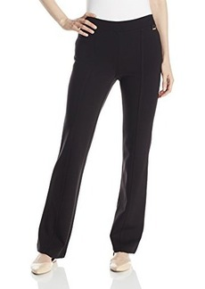 Calvin Klein Women's Slim Waist Bootcut Pant, Black, Medium