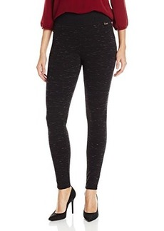 Calvin Klein Women's Space Dye Legging, Black, X-Small