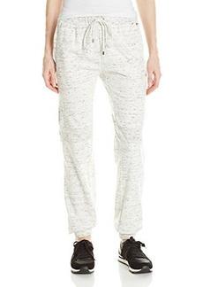 Calvin Klein Women's Spacedye Cinched Bottom Pant, Soft White, Medium