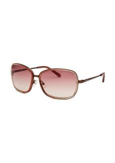 Calvin Klein Women's Square Amber Gradient Sunglasses