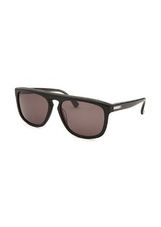 Calvin Klein Women's Square Black Marble Sunglasses
