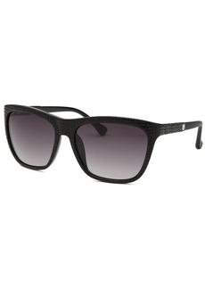 Calvin Klein Women's Square Black Reptile Print Sunglasses