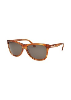 Calvin Klein Women's Square Blonde Havana Sunglasses