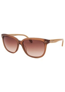 Calvin Klein Women's Square Brown Sunglasses