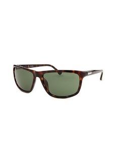 Calvin Klein Women's Square Dark Havana Sunglasses