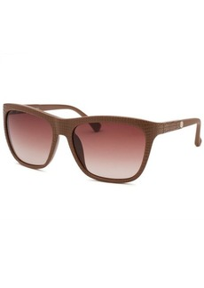Calvin Klein Women's Square Light Brown Reptile Print Sunglasses