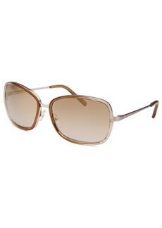 Calvin Klein Women's Square Light Brown Translucent Sunglasses