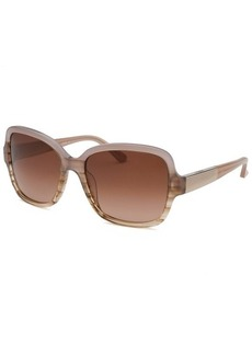 Calvin Klein Women's Square Orchid Brown Horn Sunglasses