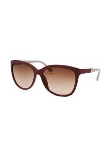 Calvin Klein Women's Square Plum Reptile Print Sunglasses