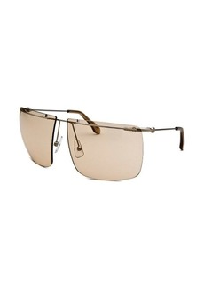 Calvin Klein Women's Square Rimless Sunglasses