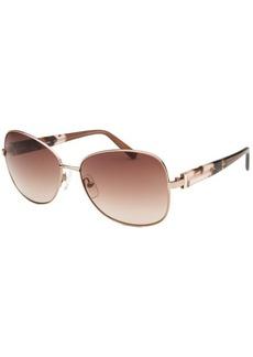 Calvin Klein Women's Square Rose-Tone Sunglasses